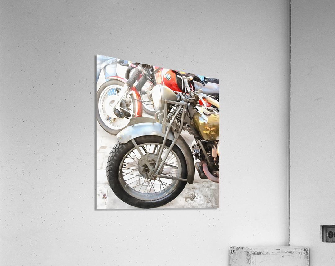 Moto Guzzi and BMW Front Wheels  Acrylic Print
