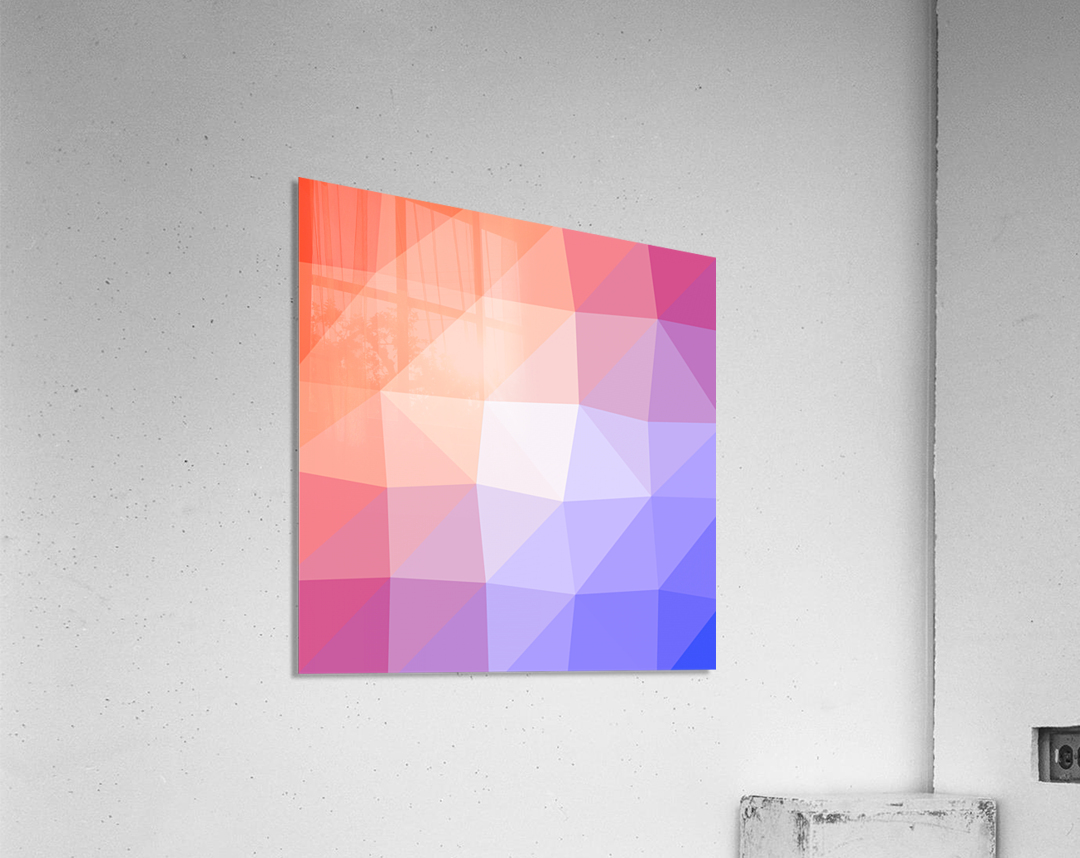 Abstract art patterns low poly polygon 3D backgrounds, textures, and vectors (3)  Acrylic Print