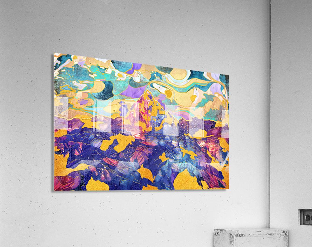 Dreamy Mountain - Illustration II  Acrylic Print
