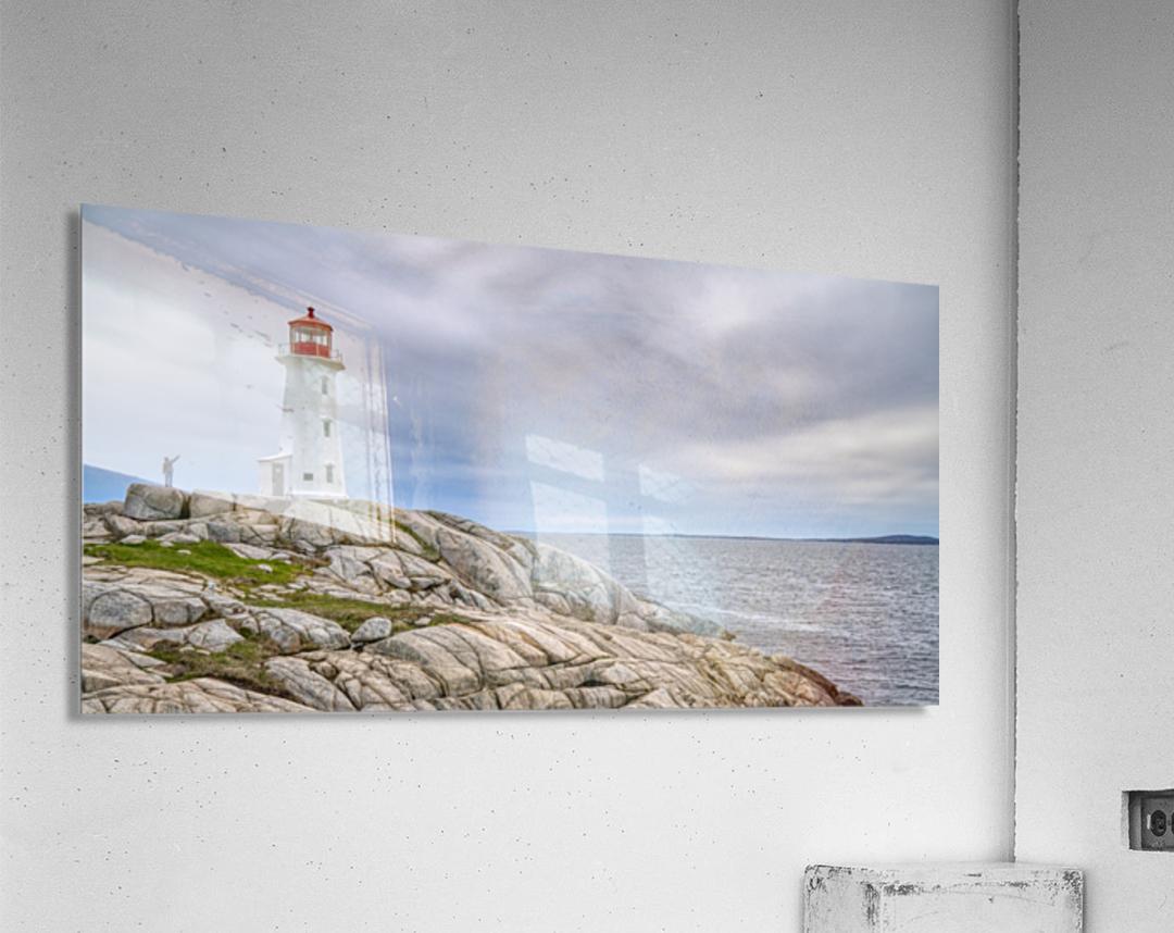 Alone at Peggys Cove.  Acrylic Print
