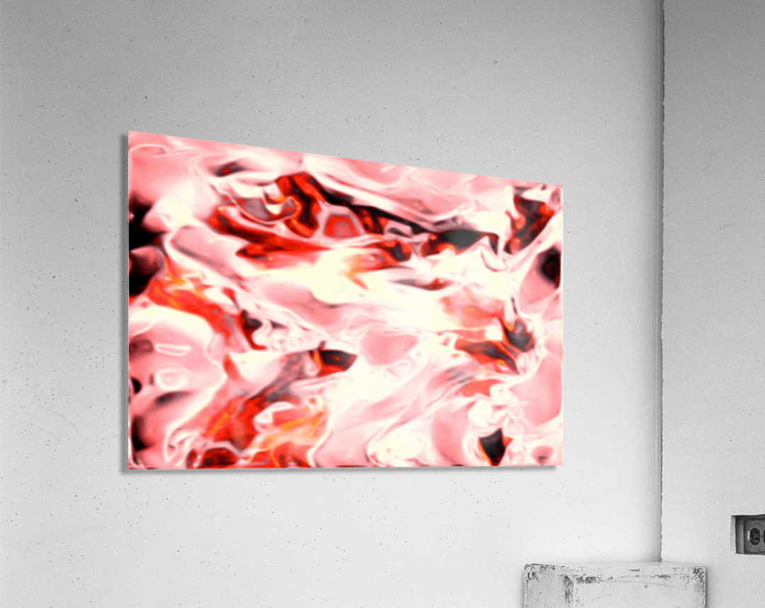 Super Charged - red orange pink abstract swirls wall art  Acrylic Print