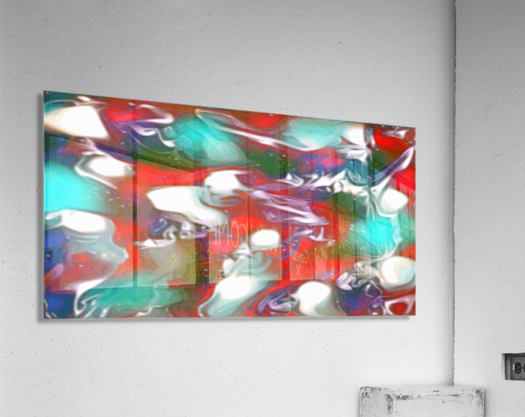 Cherries Limes & Blueberries - multicolor swirls and spots abstract wall art  Acrylic Print