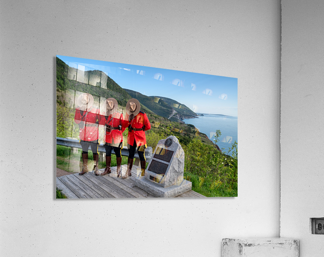 Respect and Honour - RCMP on French Mountain  Acrylic Print