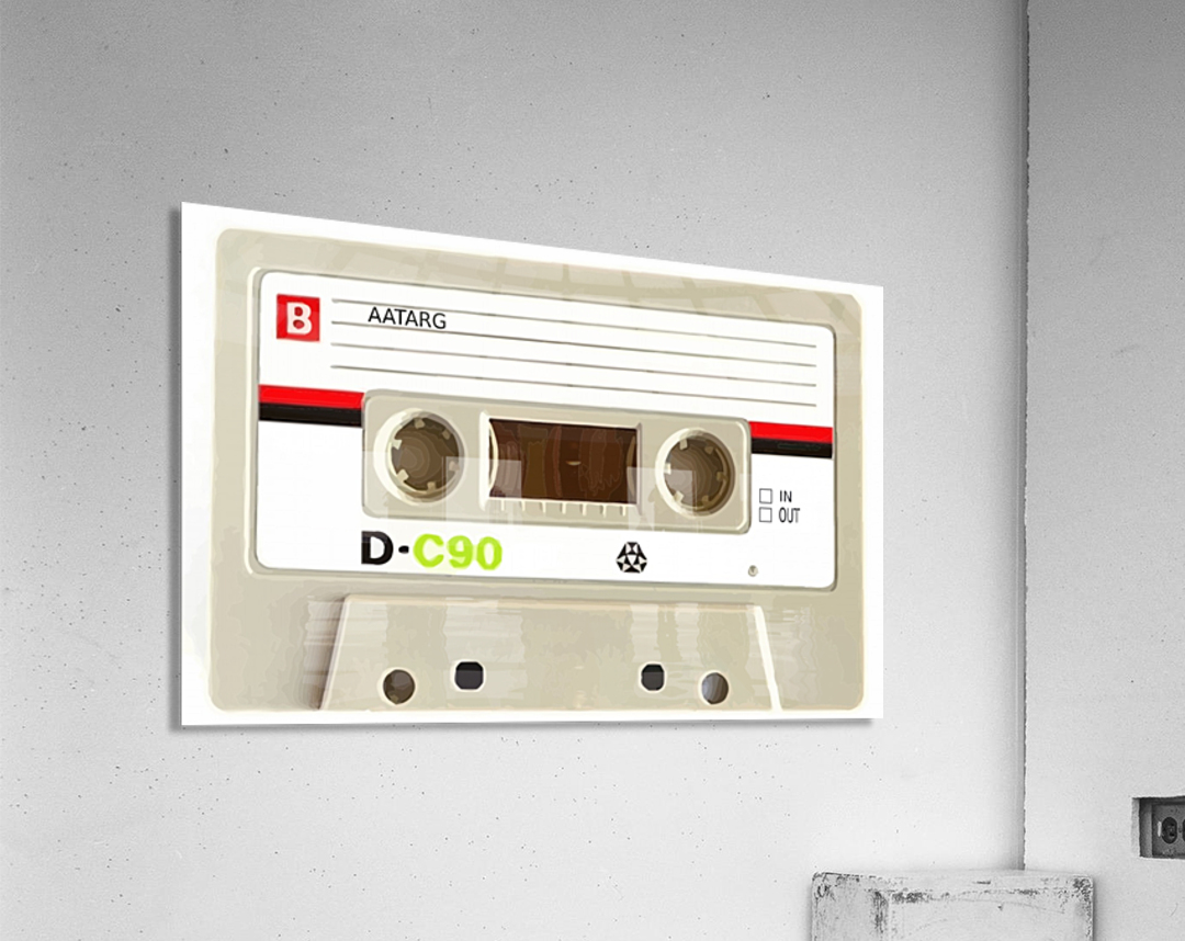 cassette tape recorder vintage old  Acrylic Print