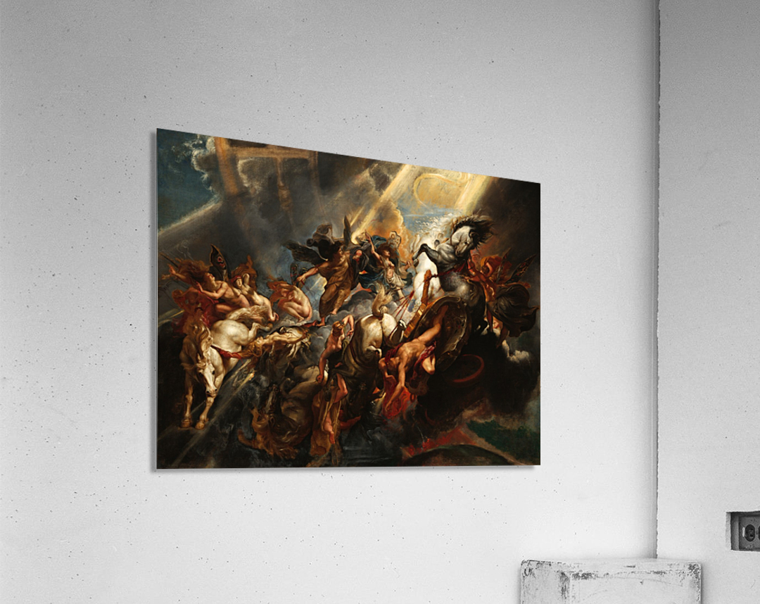 Peter Paul Rubens 1604 - Art Print Painting Poster The Fall of Phaeton