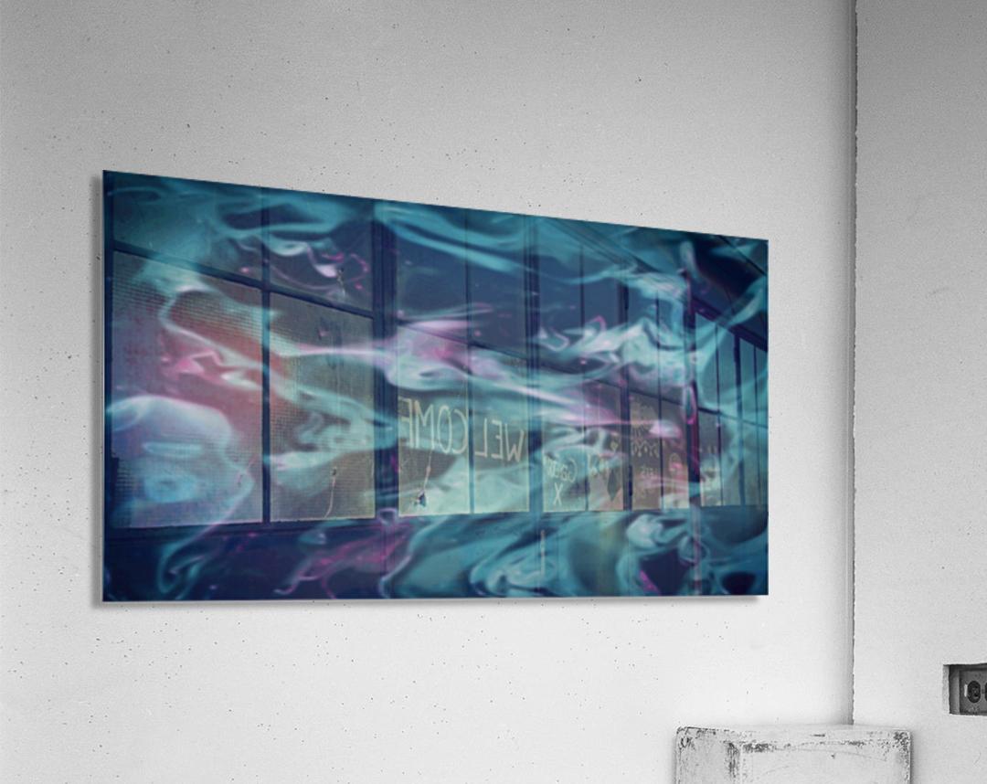 Magic Snake - turquoise blue purple swirls abstract wall art  Acrylic Print
