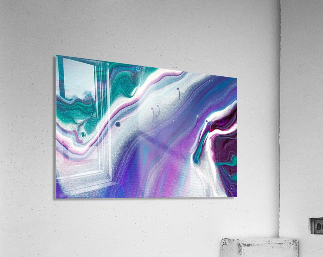 color acrylic paint art painting  Acrylic Print