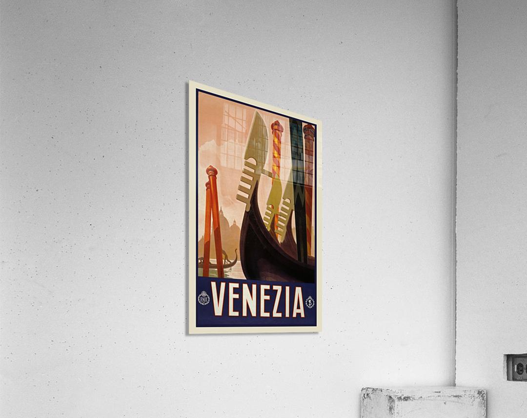 vintage travel travel poster  Acrylic Print