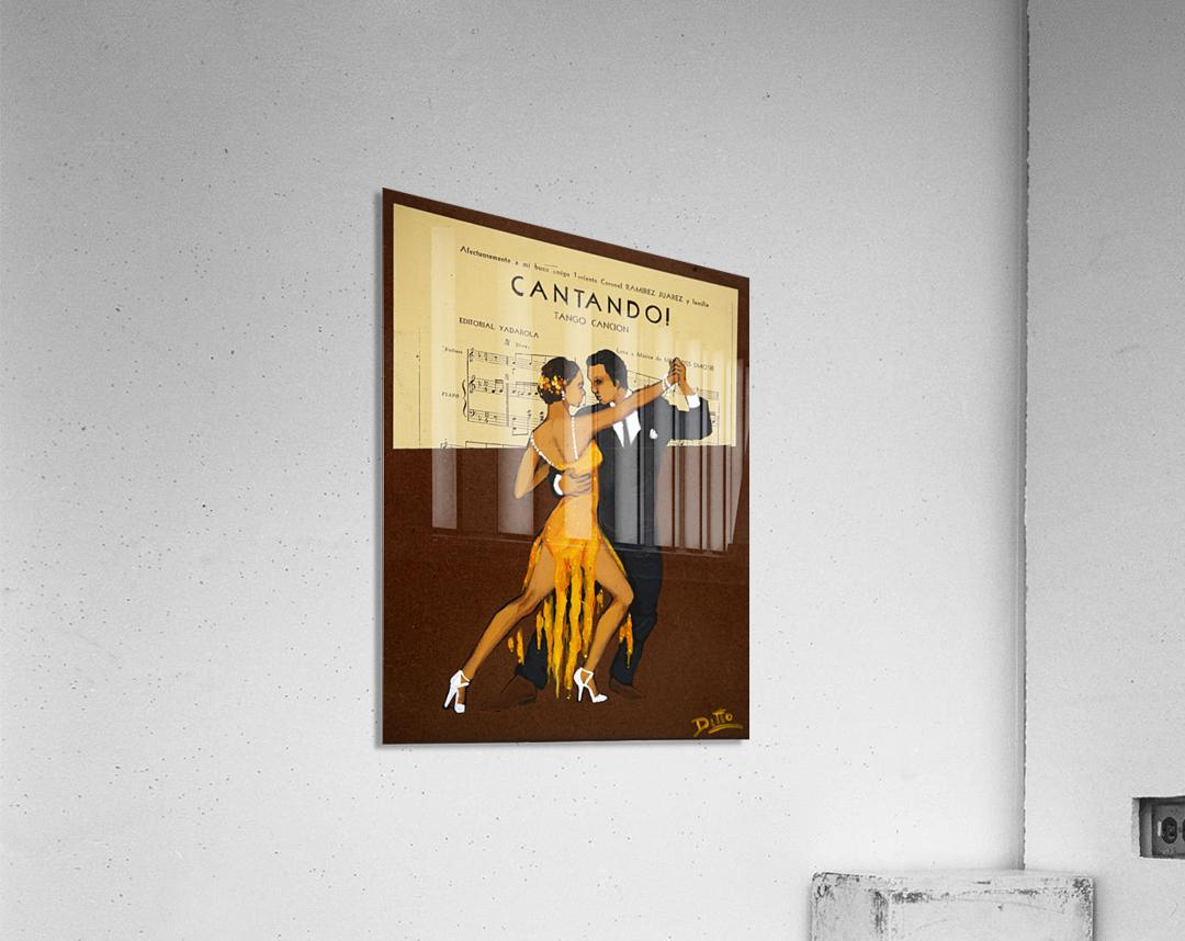 advertisement tango music dance  Acrylic Print