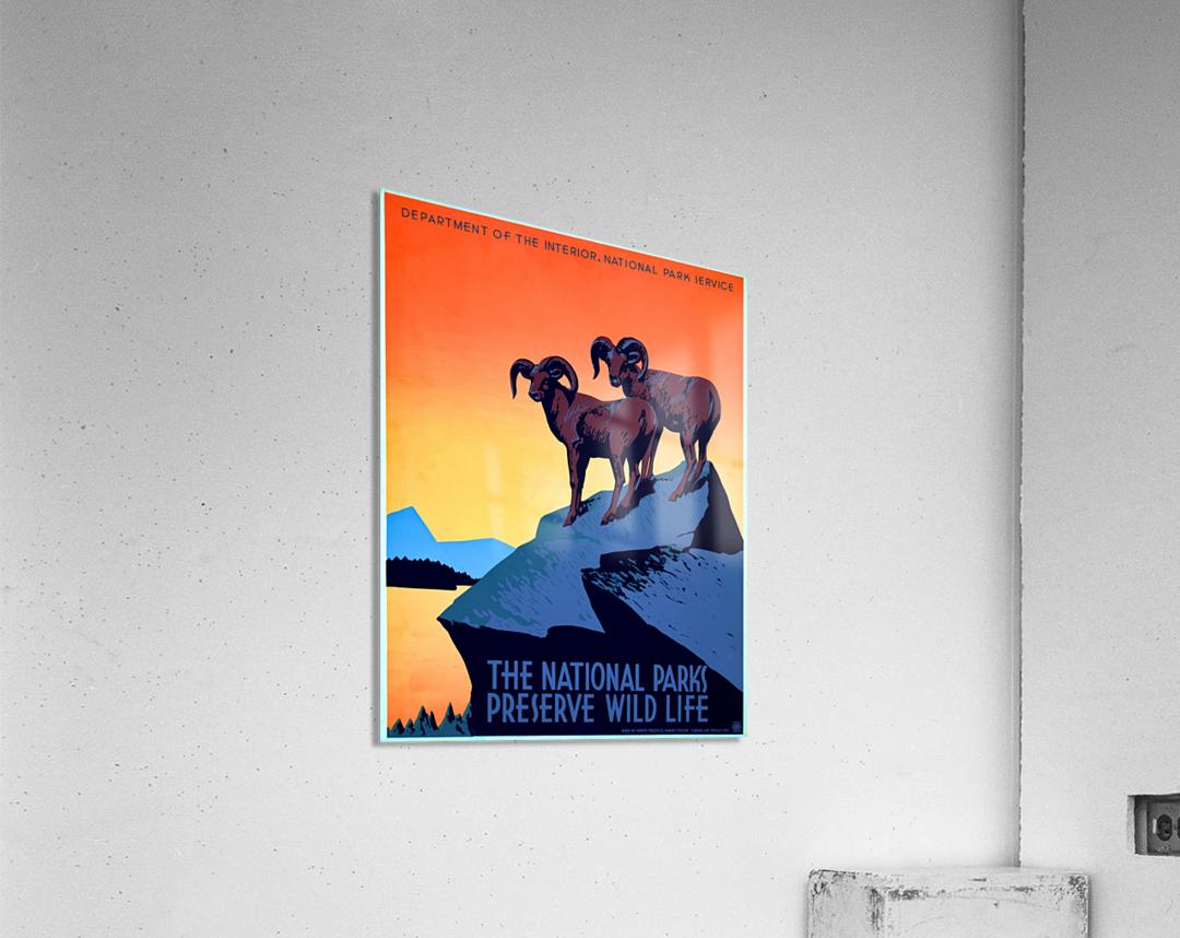 vintage poster retro advertisement  Acrylic Print