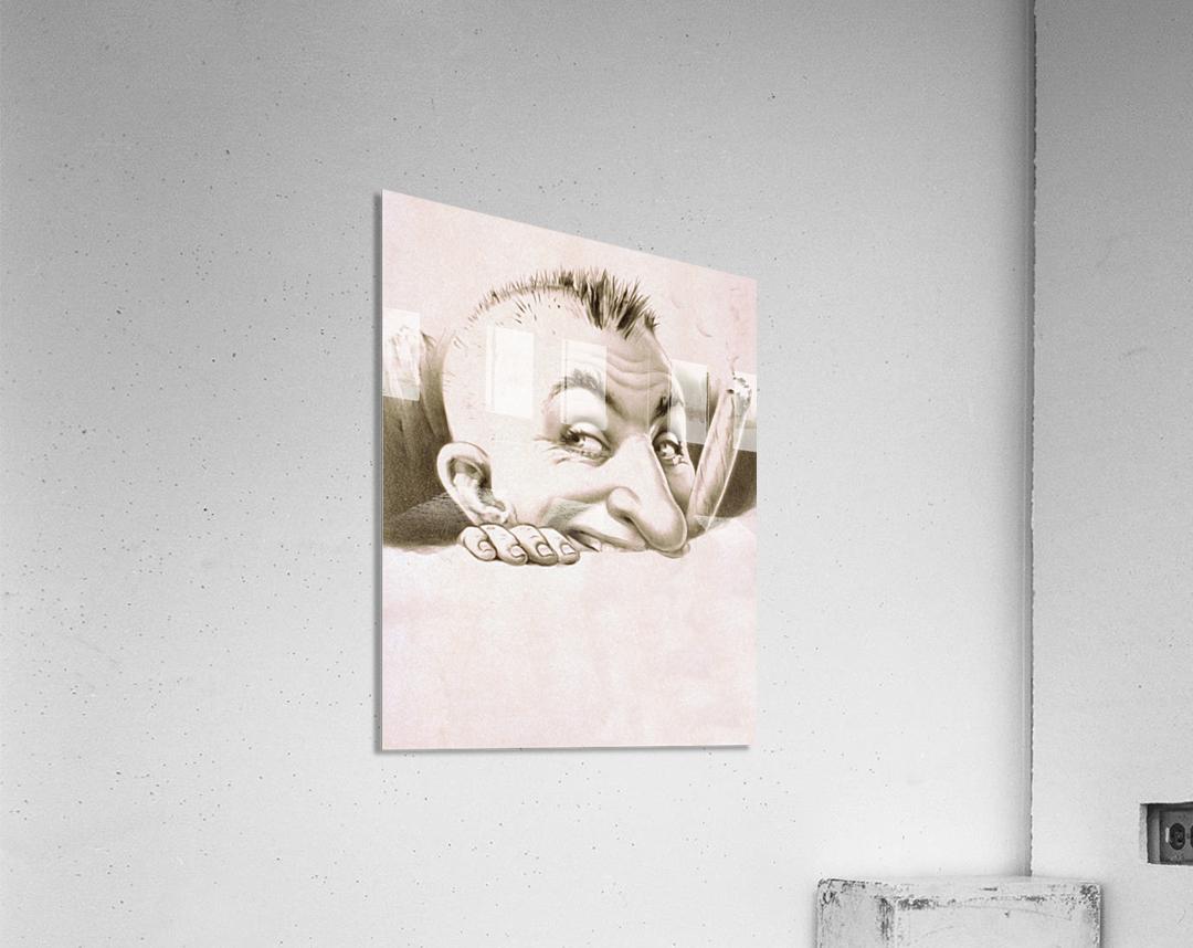 vintage poster man male people  Acrylic Print