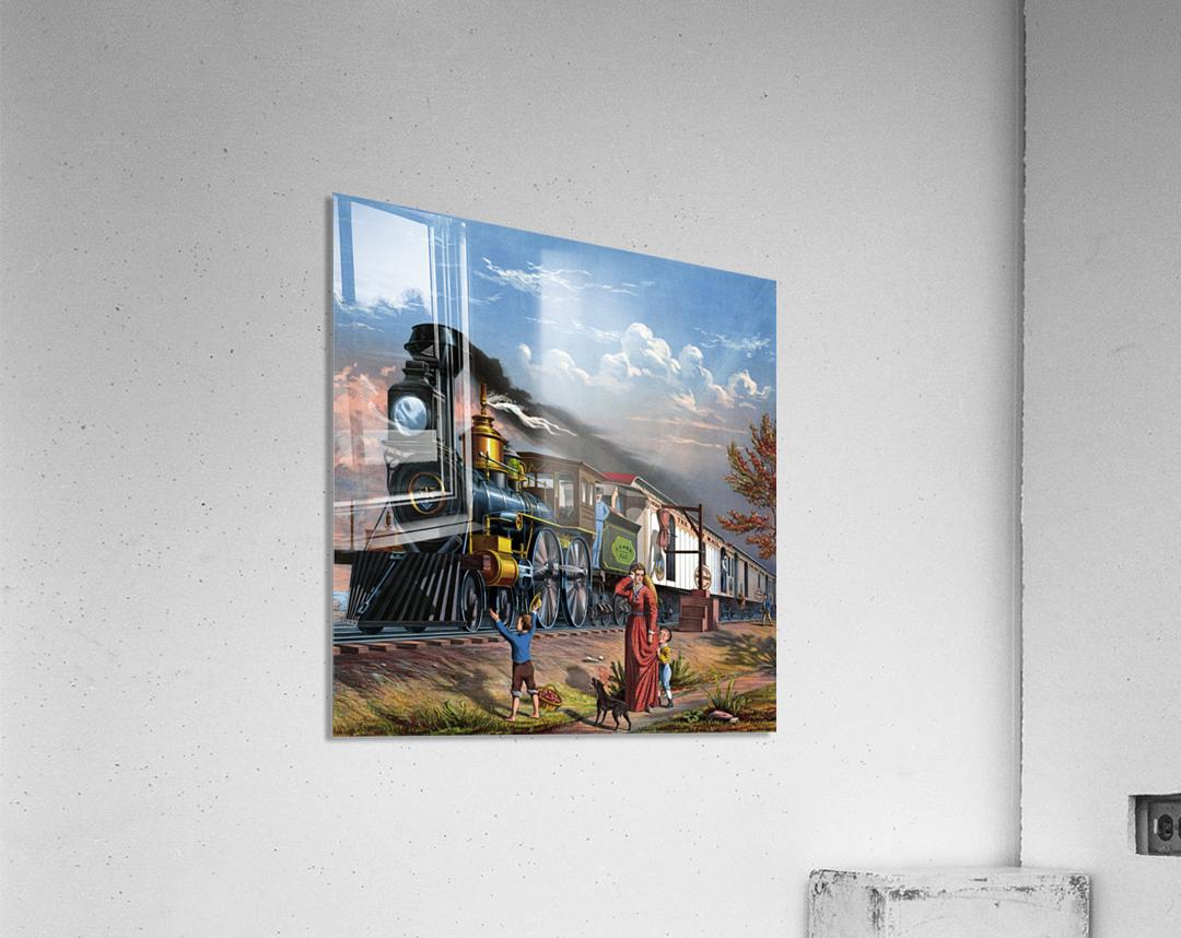 train mail train steam train people  Acrylic Print