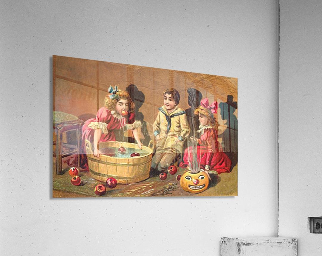 halloween vintage kids card happy  Acrylic Print