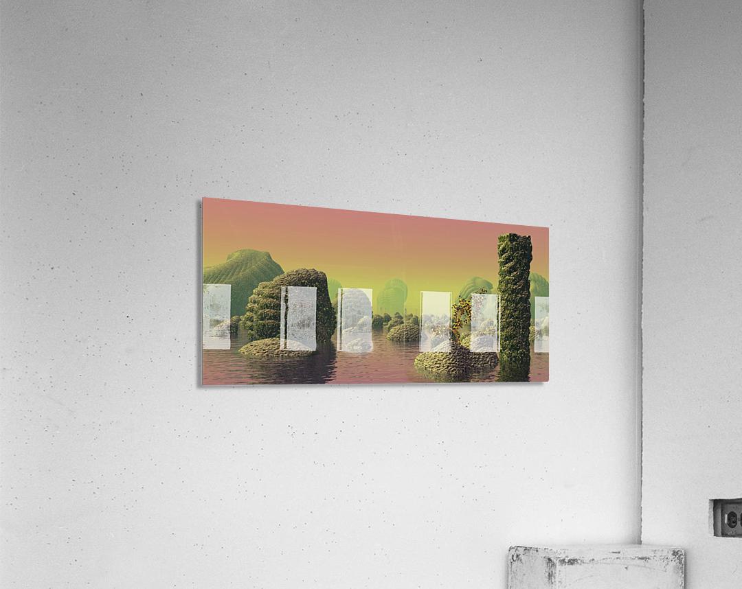 planet water sea landscape space  Acrylic Print