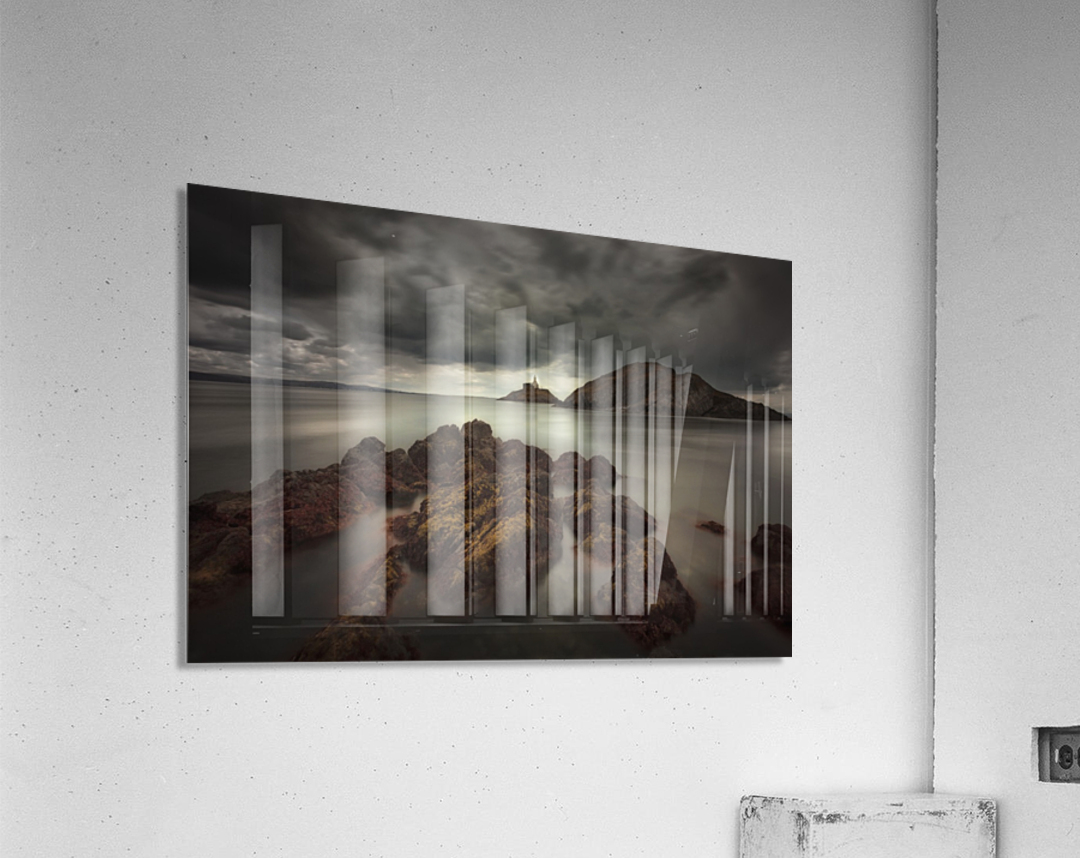 Storm clouds over Mumbles lighthouse  Acrylic Print