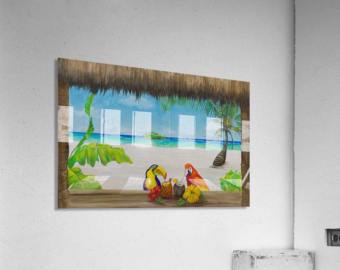 Beach tiki   Acrylic Print
