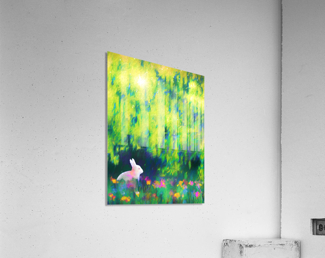Bunny beneath the Willow Tree  Acrylic Print