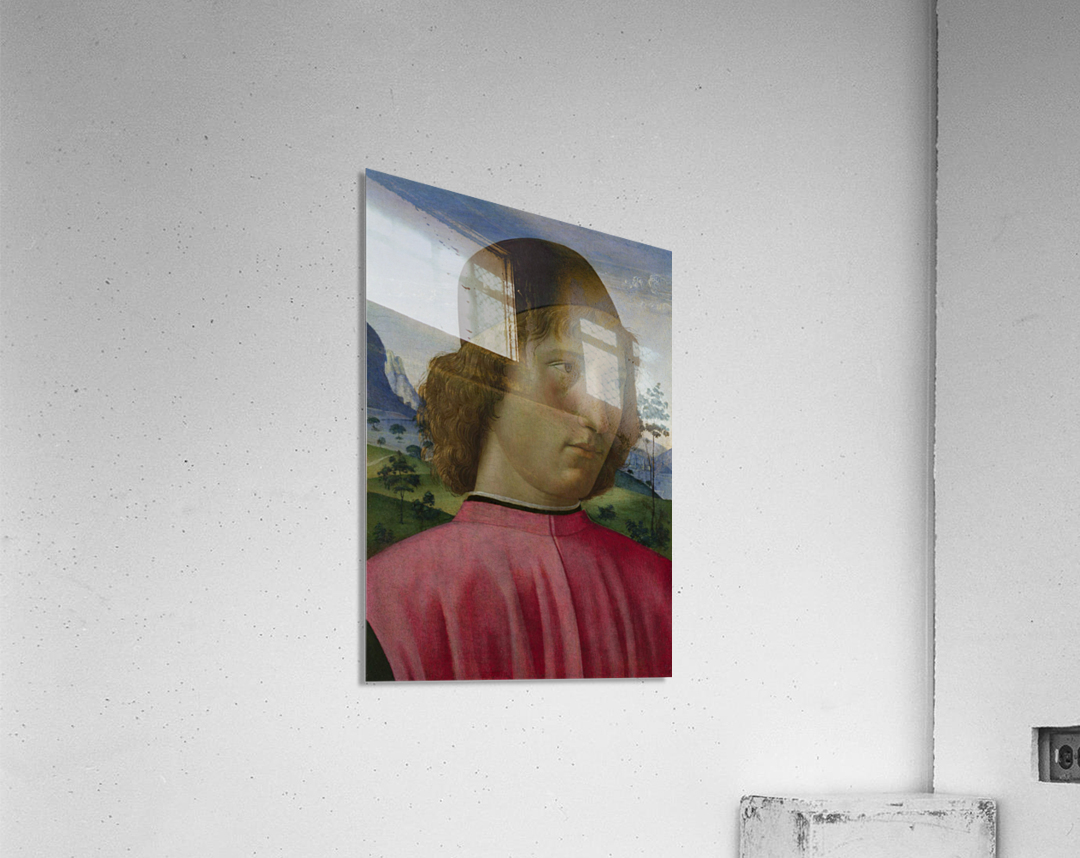 Portrait of a young men in red  Acrylic Print