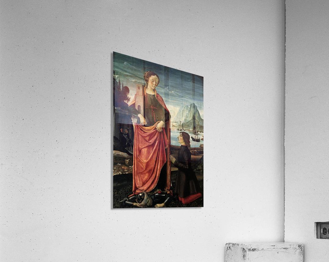 St Barbara crushing her father  Acrylic Print