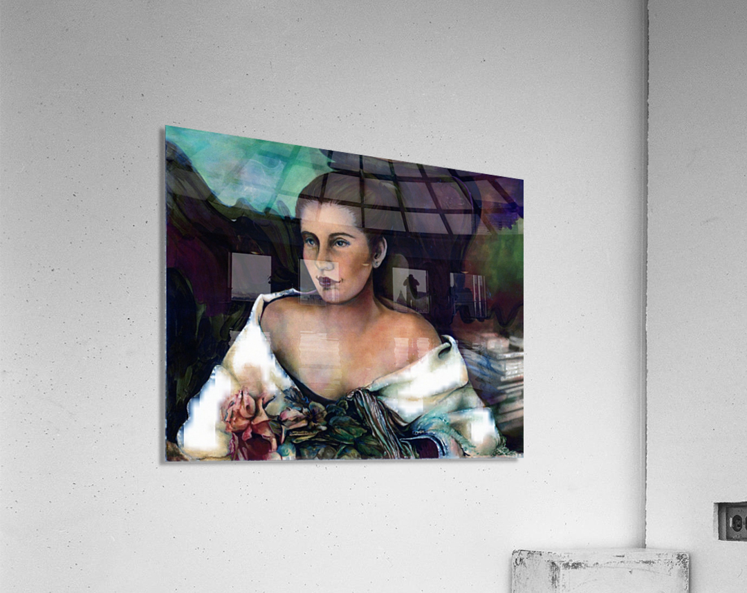 Spanish Lady With A Rose  Acrylic Print