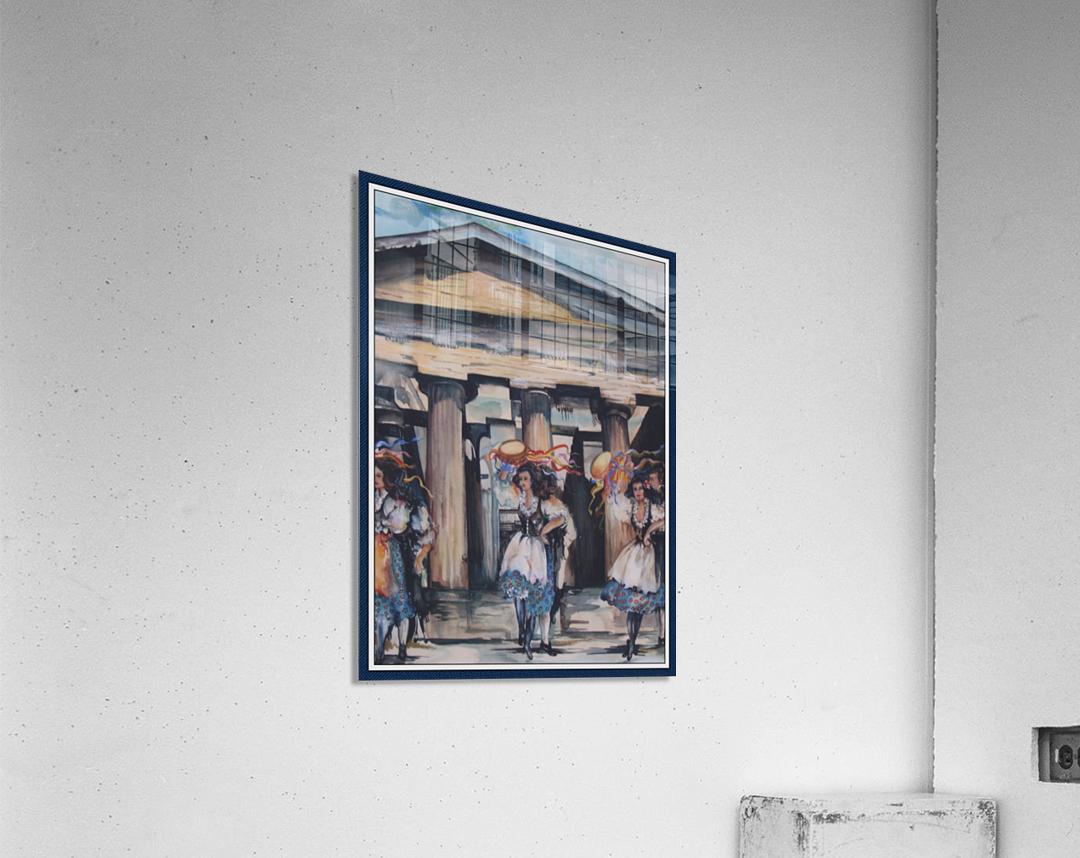 Italian Tamborine Dancers   Acrylic Print