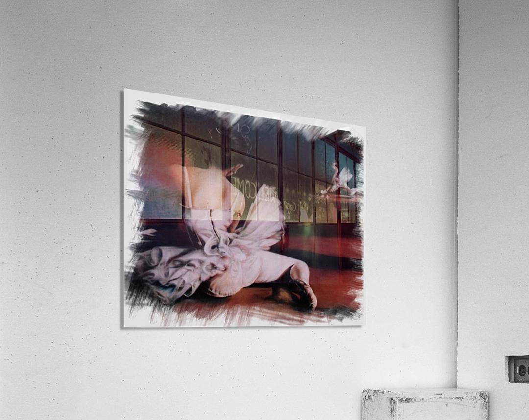 Ballerina In The Mirror .   Acrylic Print