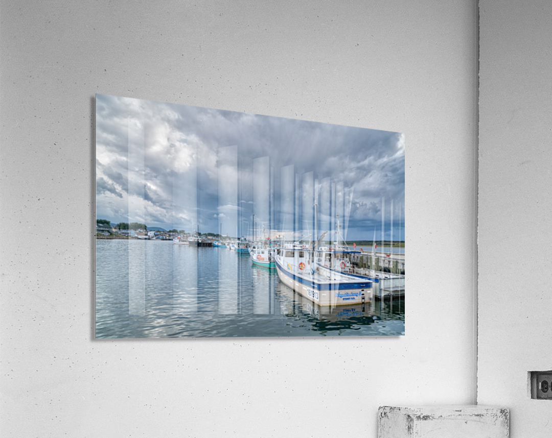 Approaching Storm Clouds - Cheticamp Harbour  Acrylic Print