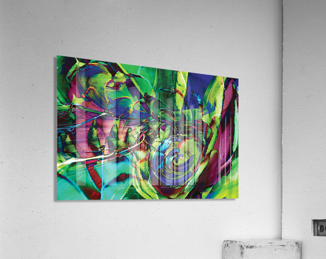 swirling abstract shapes   Acrylic Print