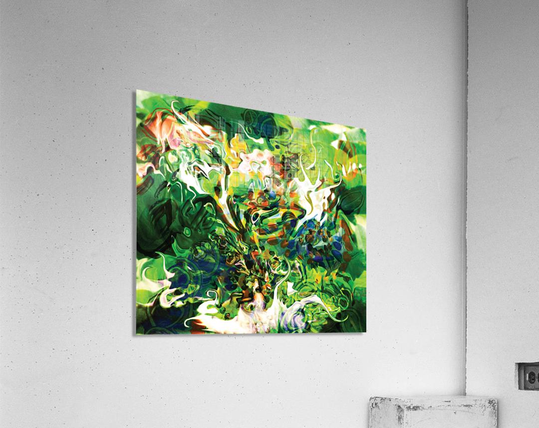green fluid abstract  Acrylic Print