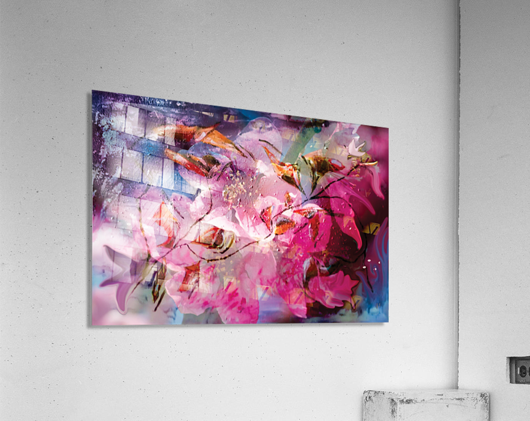 floral creation abstraction  Acrylic Print
