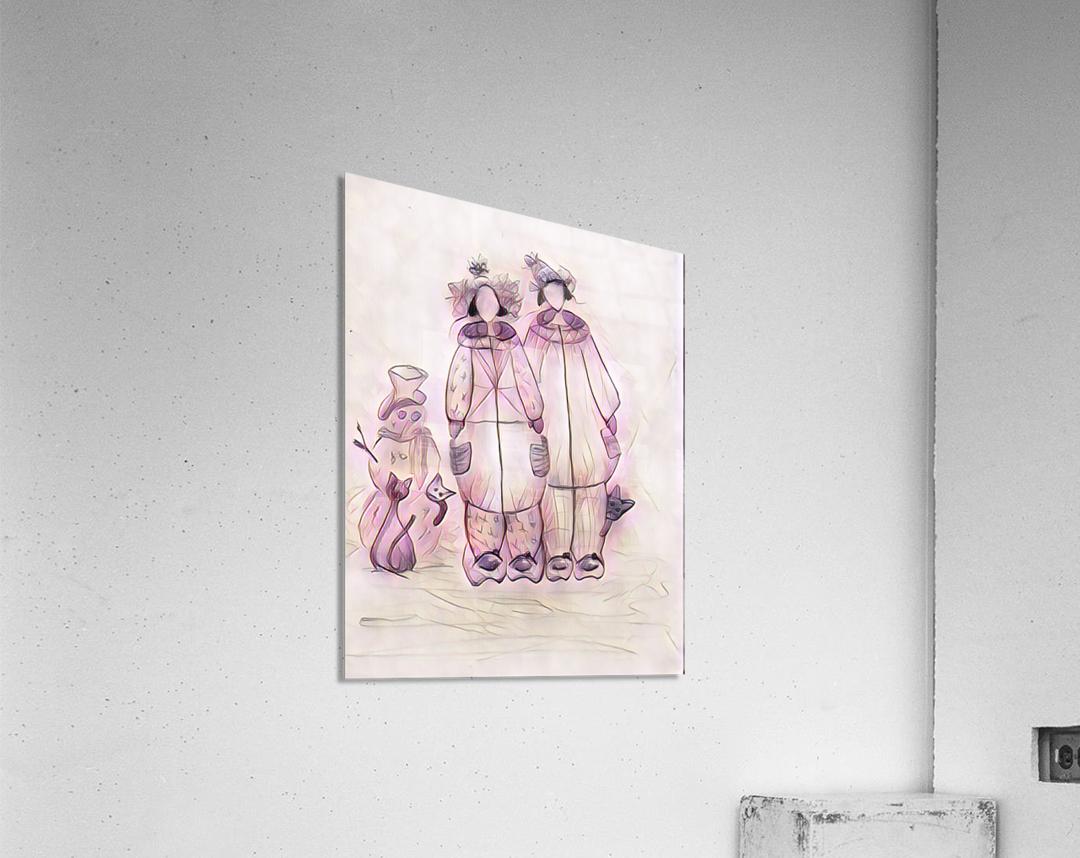 Les raquetteuses et les chats  Acrylic Print