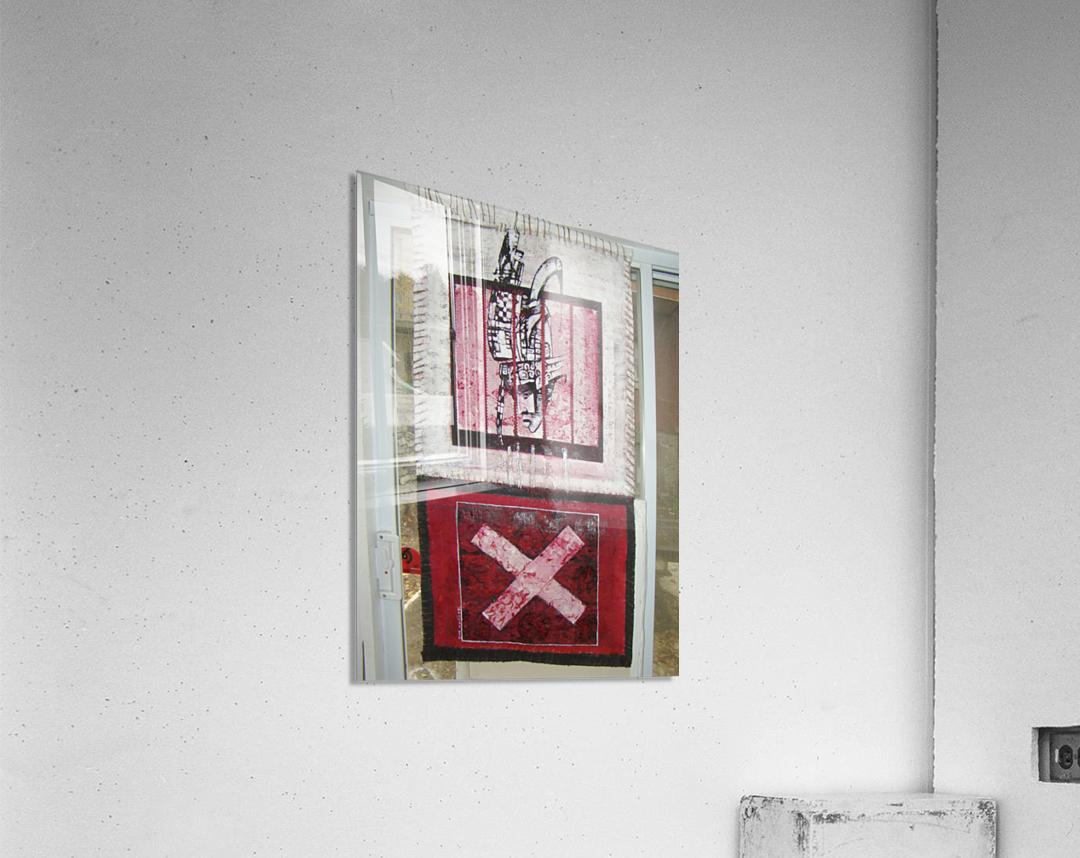 le rouge et le noir  Impression acrylique