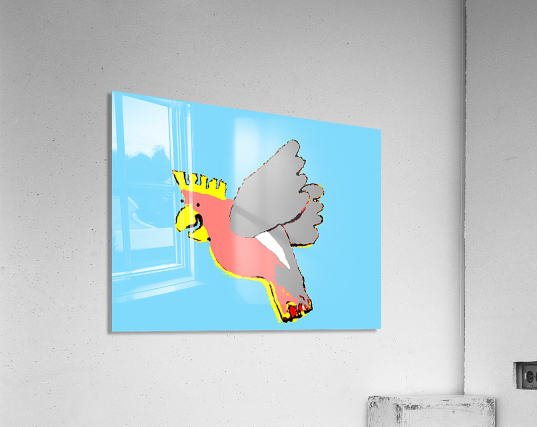 Laughing Galah - Blue  Acrylic Print