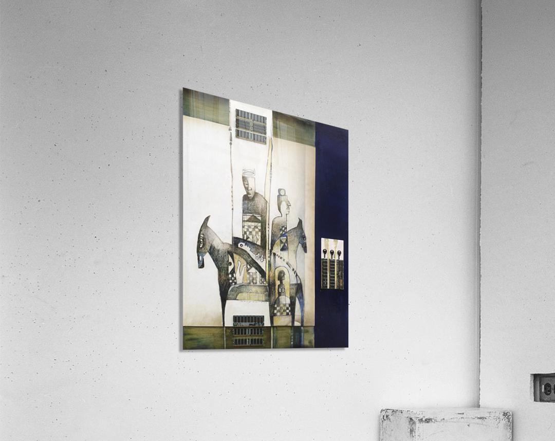 Blue duel  Impression acrylique
