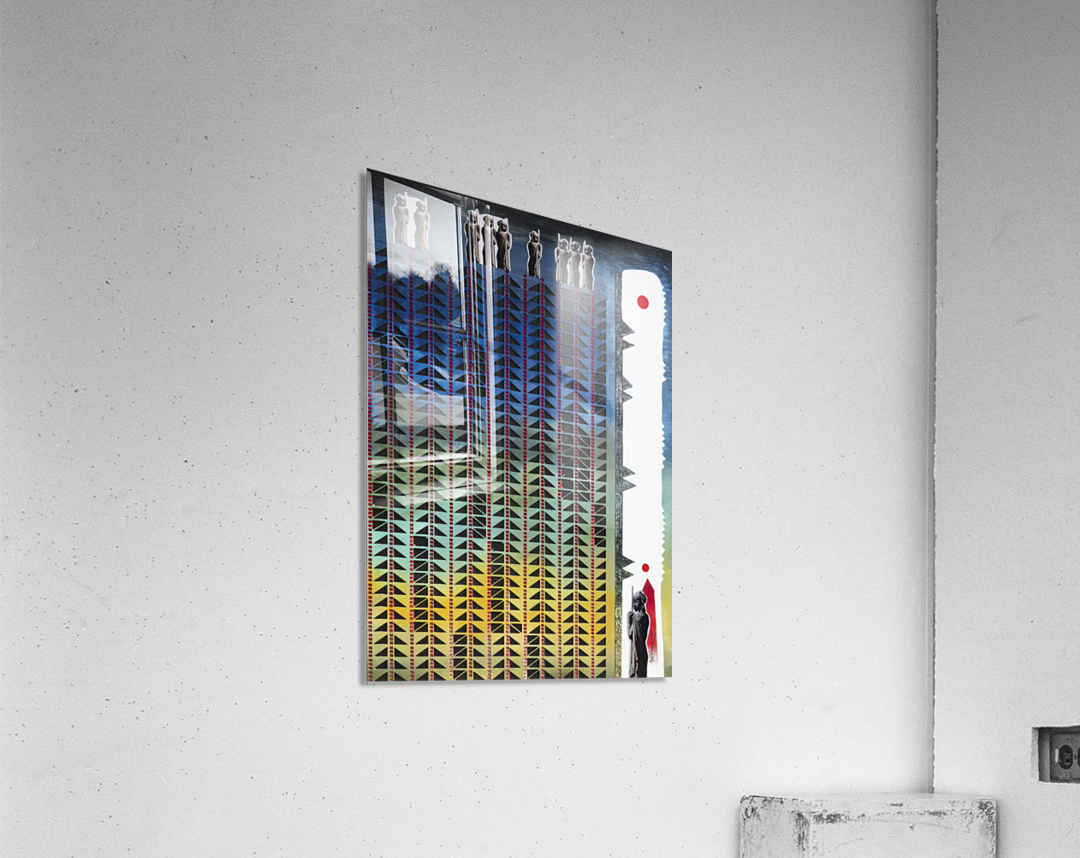 Mozaik 3-cubic  Acrylic Print