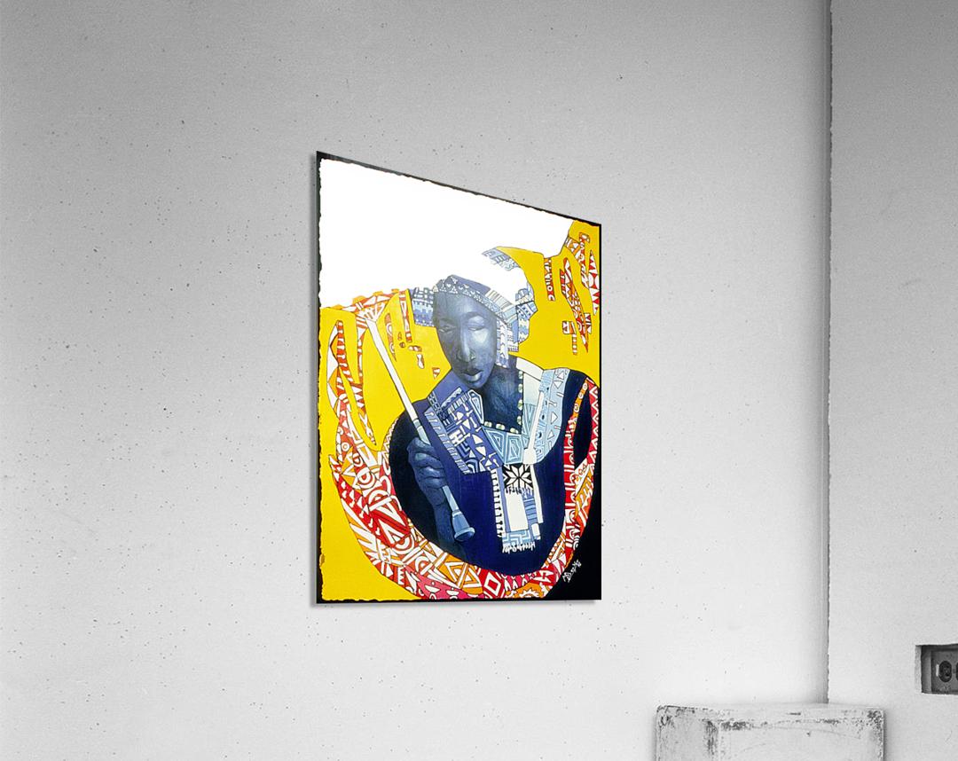 Femme à lombrelle  Impression acrylique