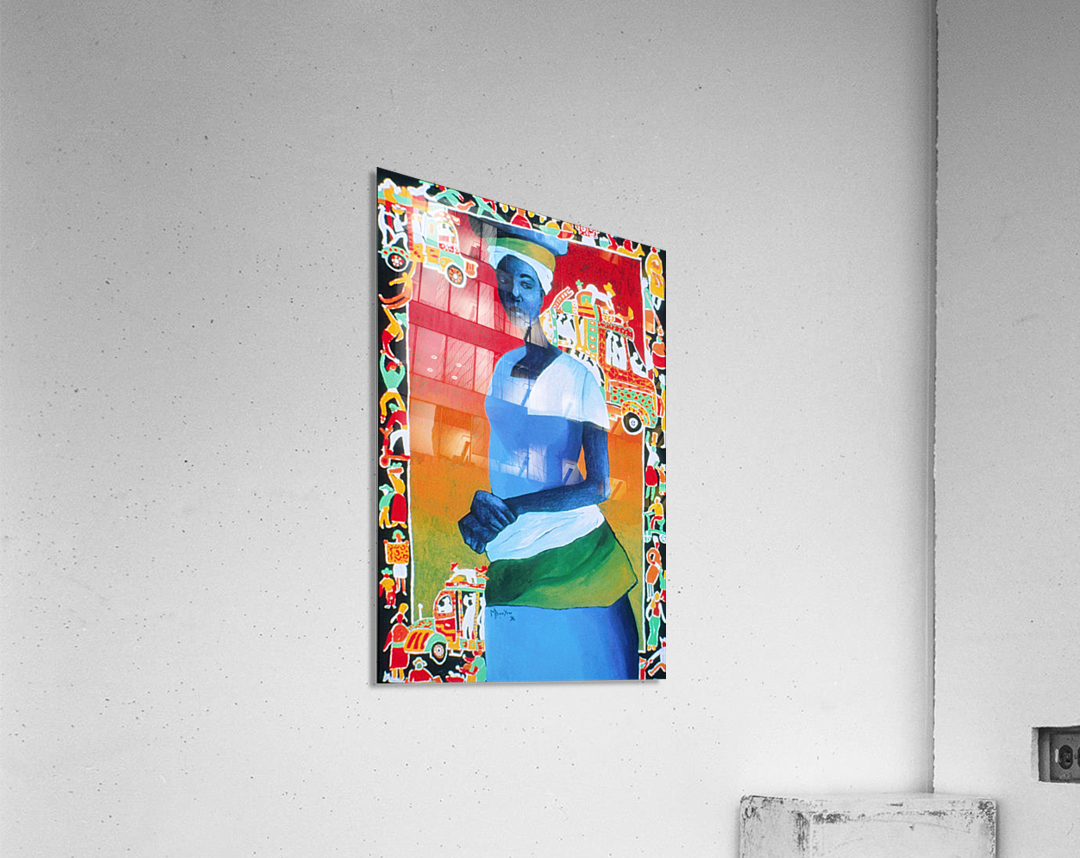 Tap Tap Lady  Impression acrylique