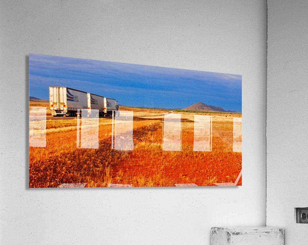 Road Train to Somewhere  Acrylic Print