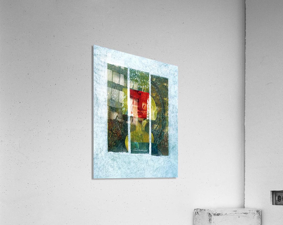 masque rouge  Impression acrylique