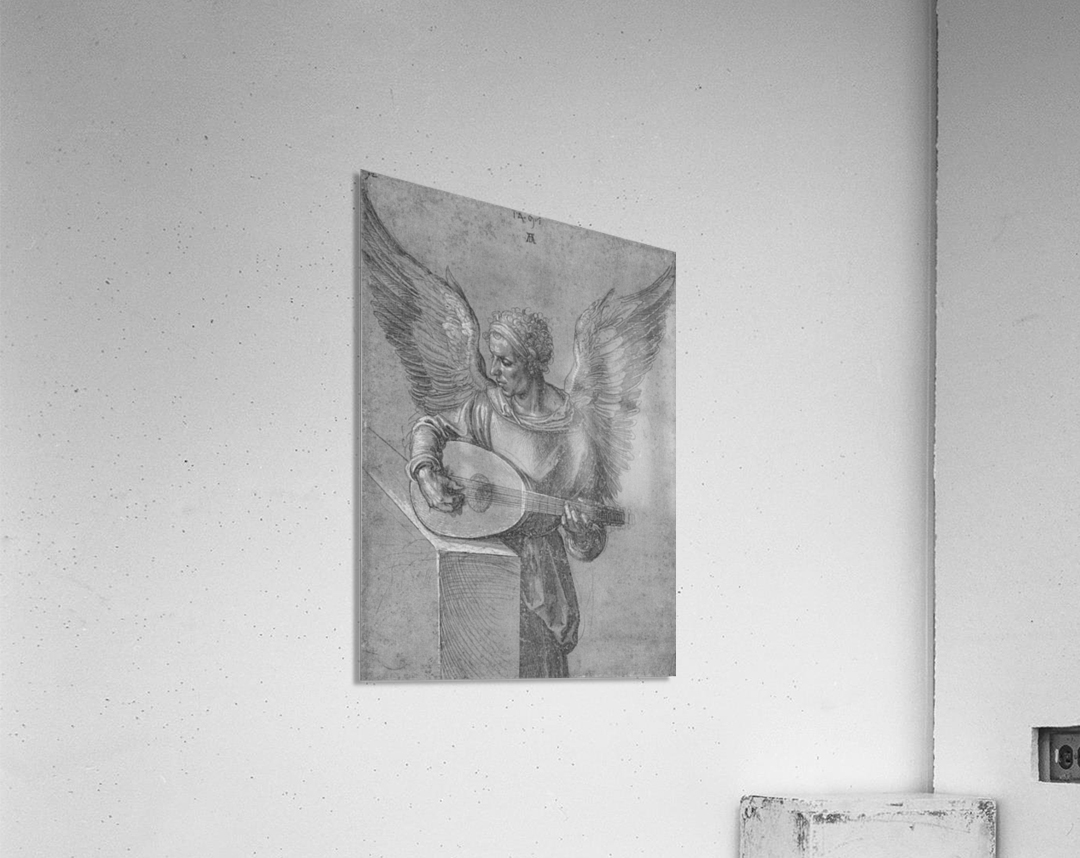 Winged Man In Idealistic Clothing, playing a Lute  Acrylic Print