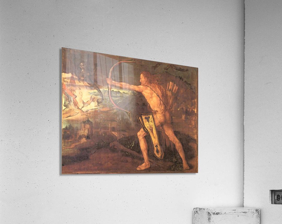Hercules and the Stymphalian Birds  Acrylic Print