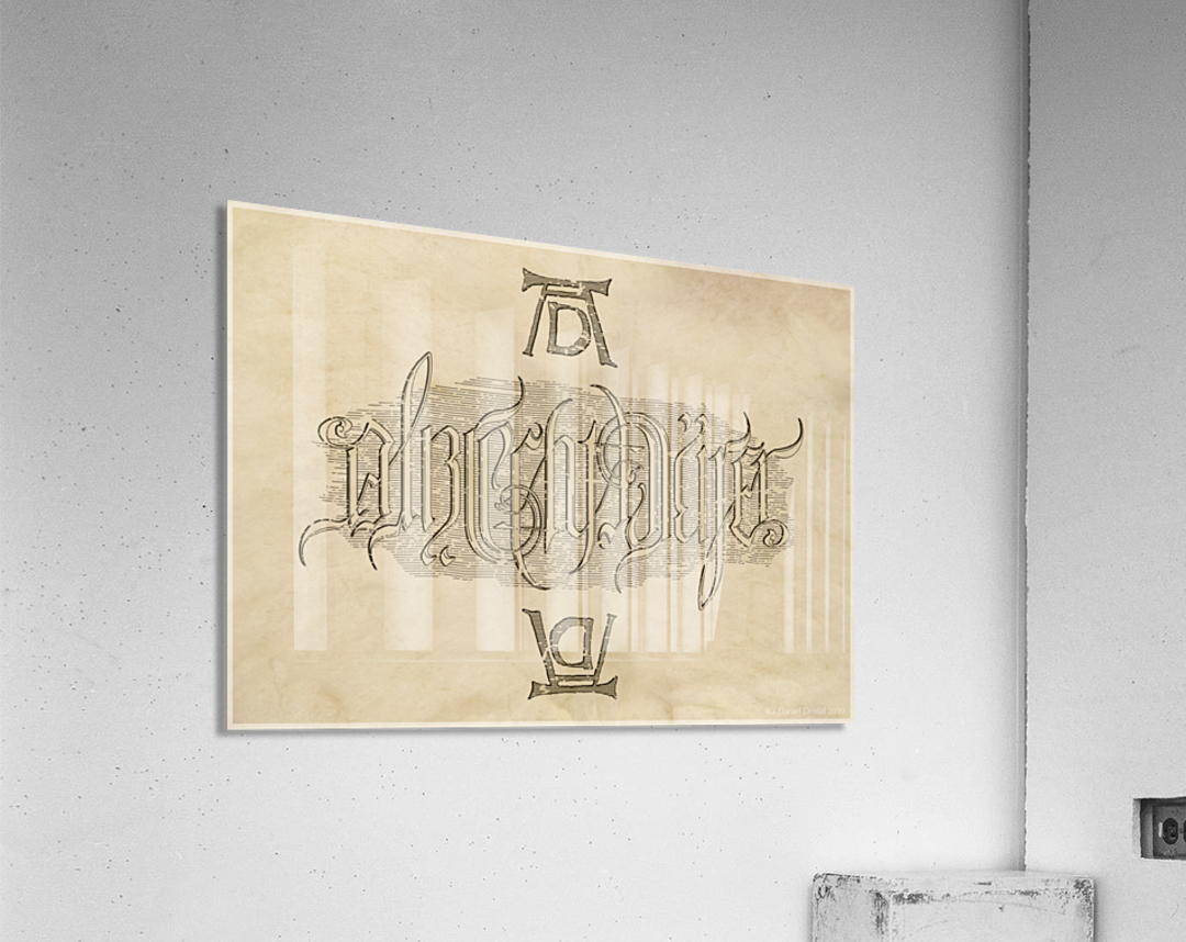 Albrecht Durer Ambigram  Acrylic Print