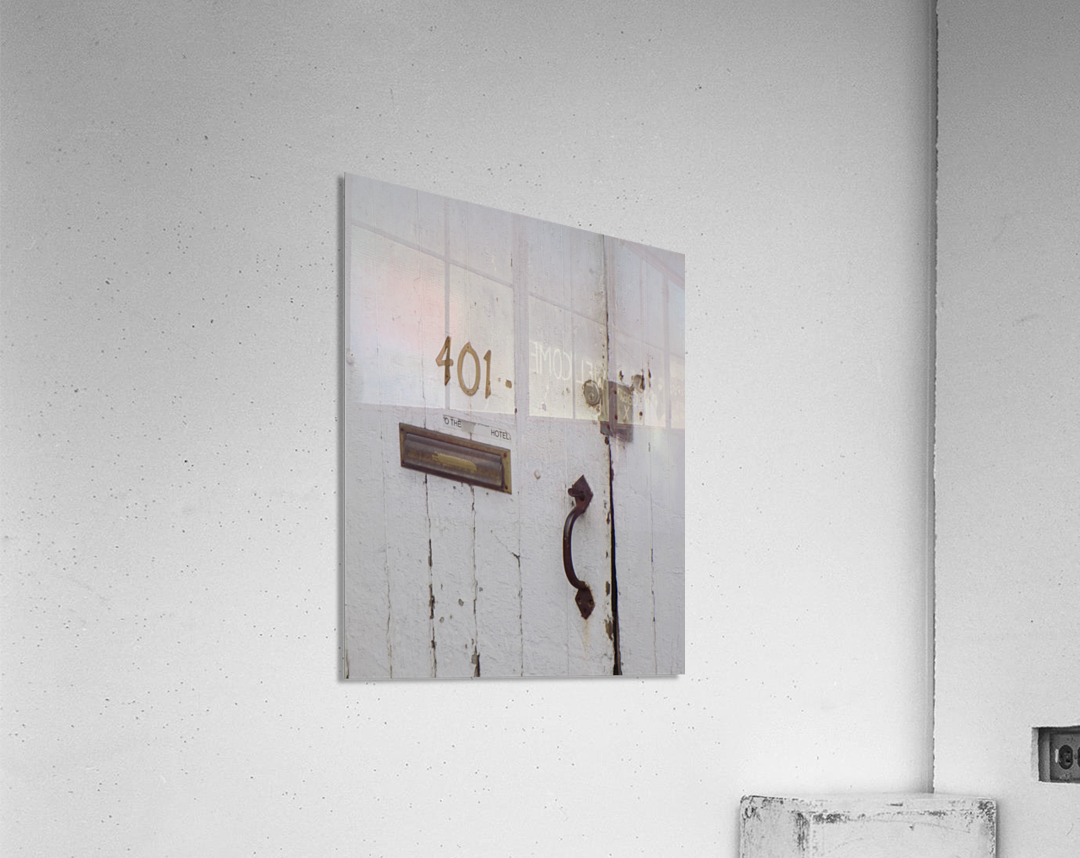 Weathered Door  Acrylic Print