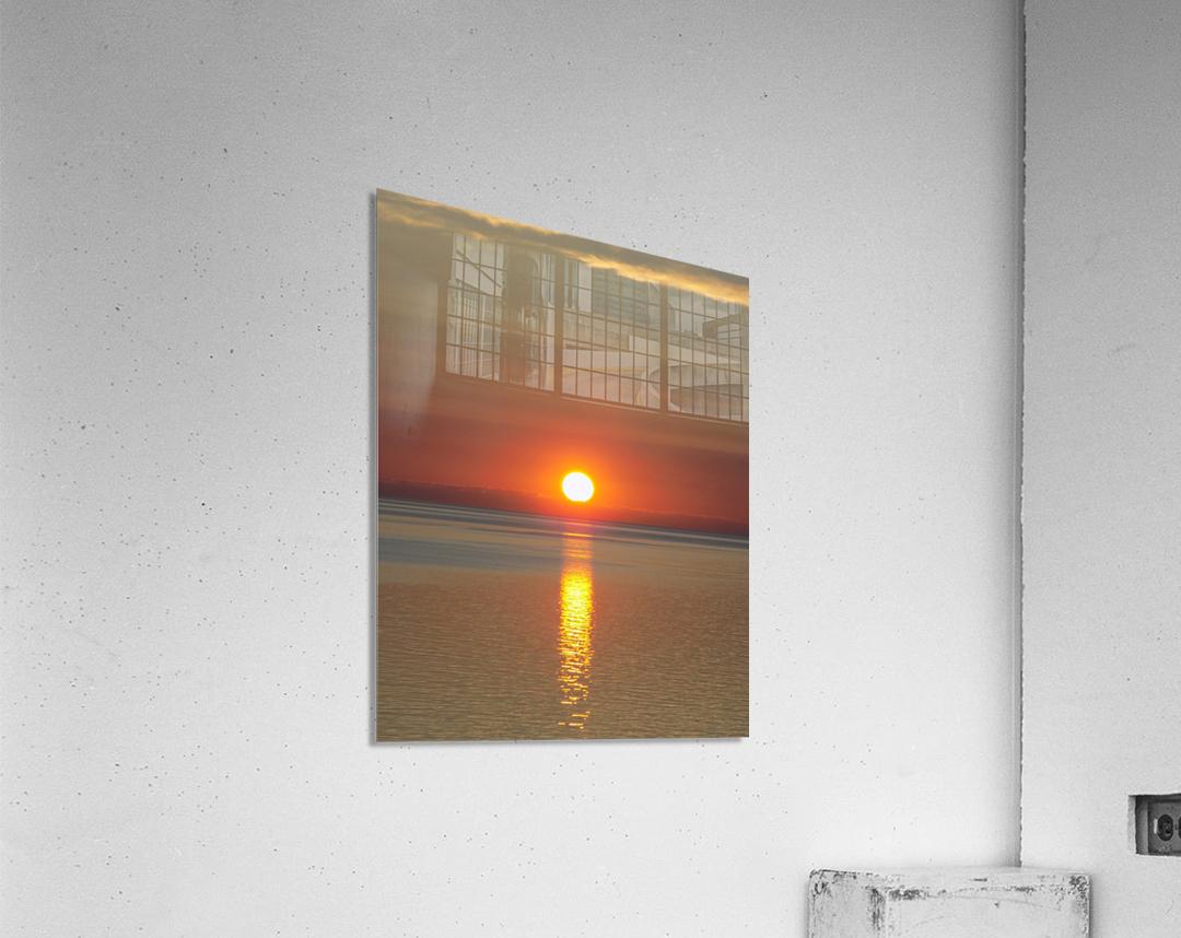 Orange Sunset Vertical  Acrylic Print