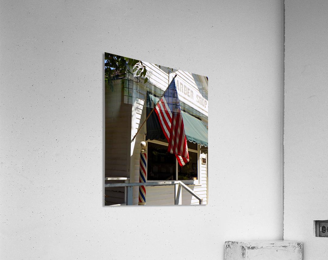 Patriotic Barber Shop  Acrylic Print