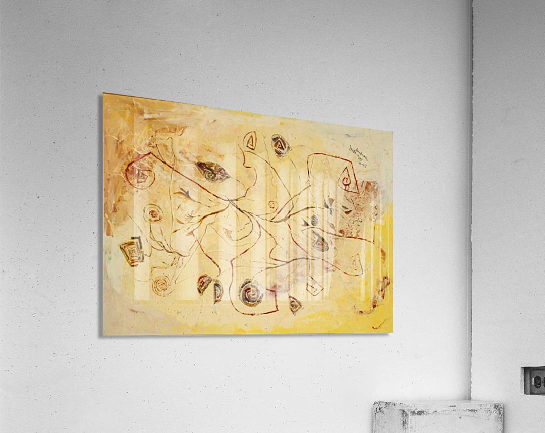 copper threads  Acrylic Print