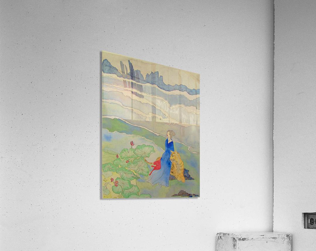 Goddess and Tiger  Acrylic Print