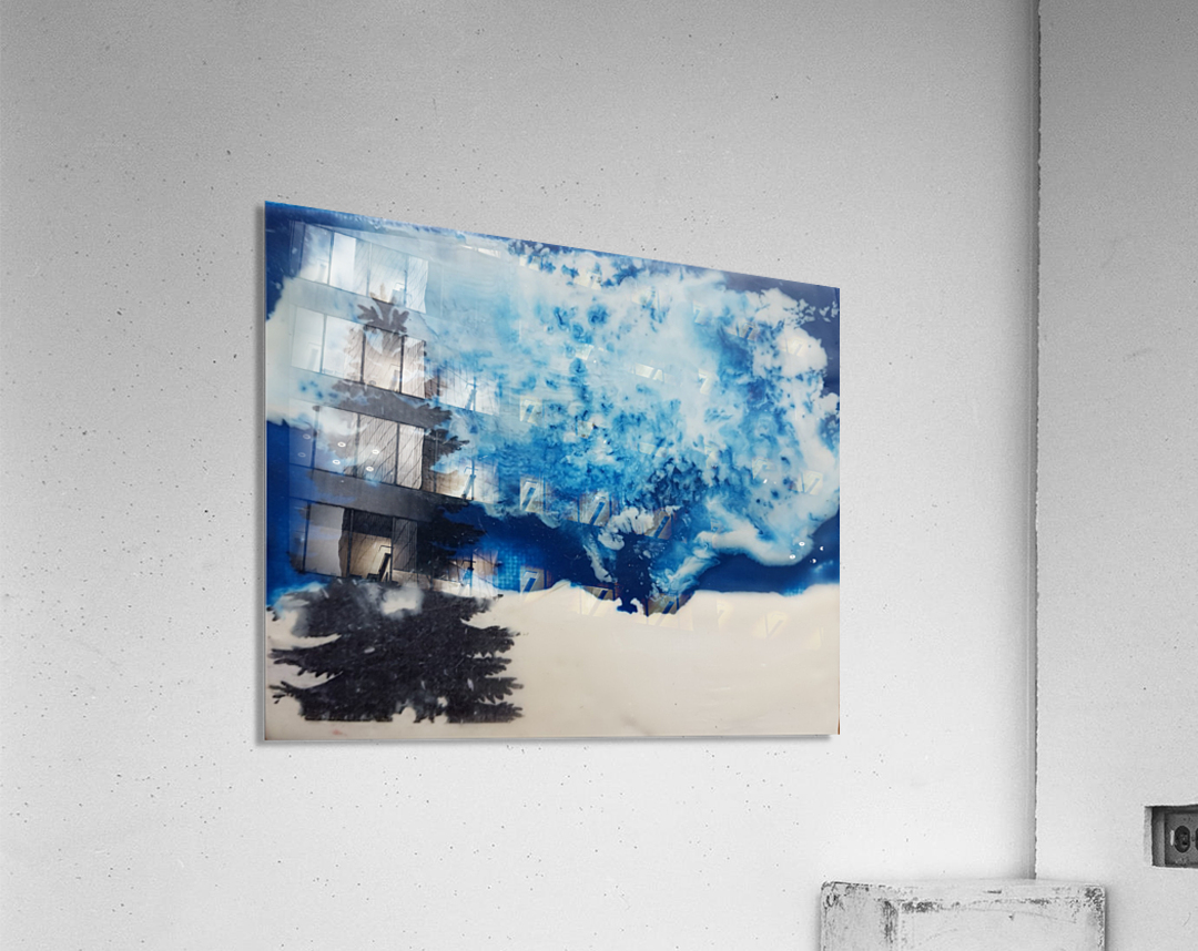 Crystal White  Acrylic Print
