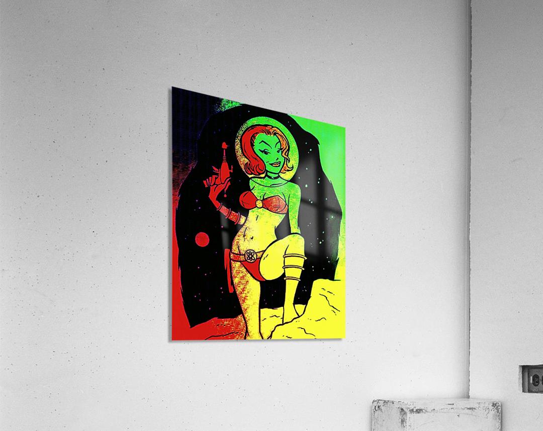 retro space hotttie  Acrylic Print