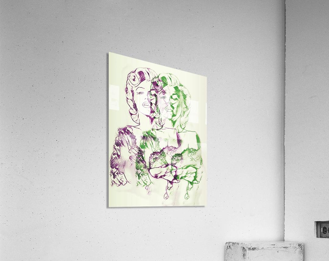 Marilyn Monroe double soul  Acrylic Print